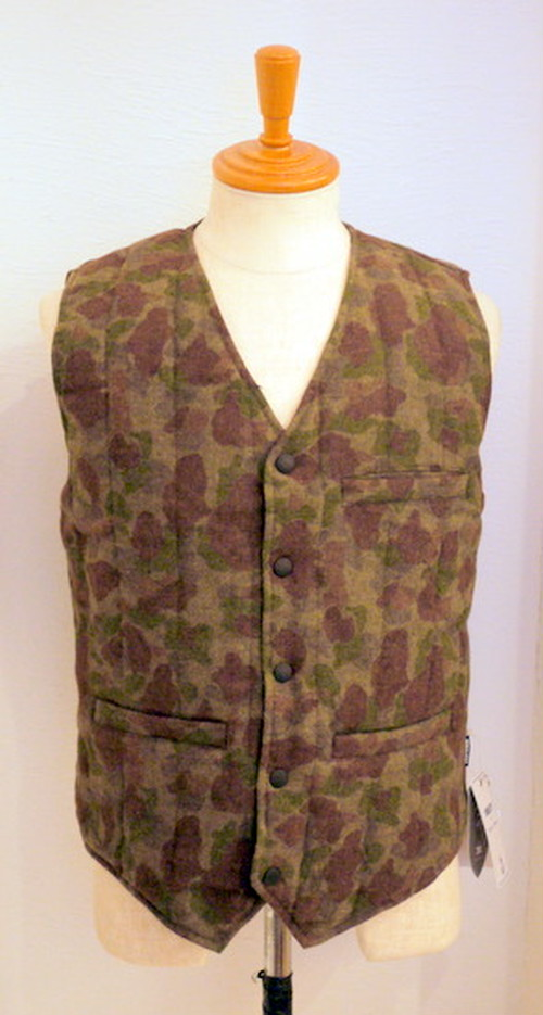 Reversible Down Vest Wool HTCAMO