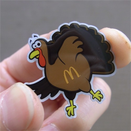 Official McDonald's Goods PINS 七面鳥