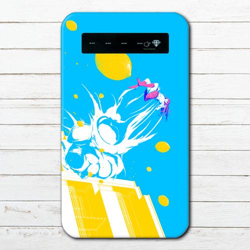 #036-001 モバイルバッテリー おすすめ iPhone Android クリエイター 綺麗 スマホ 充電器タイトル:scramble! 作:ユキノサカナ