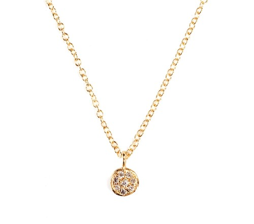 18K Yellow Gold necklace + White Diamond
