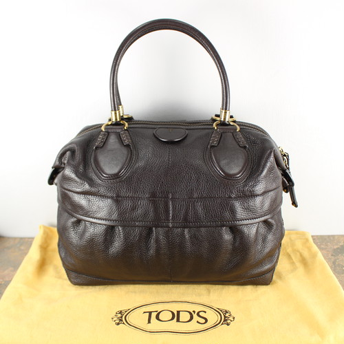 TOD'S LEATHER BOSTON BAG MADE IN ITALY/トッズレザーボストンバッグ