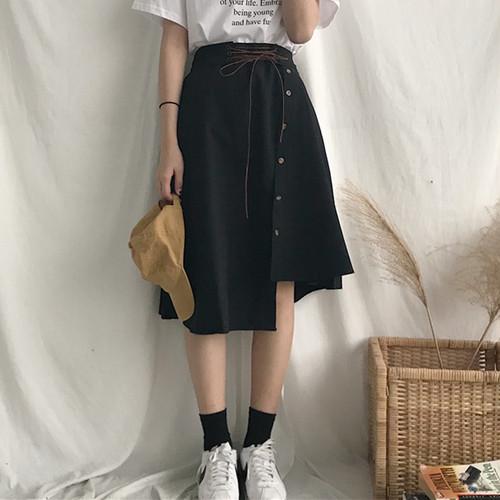 【ボトムス】シンプルAラインハイウエストスカート21975802