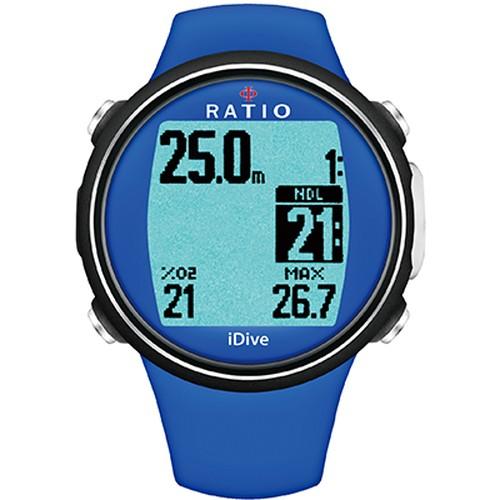 操作カンタン♪高輝度バックライトで見やすいRATIO iDive Sports    Blu(Blue)