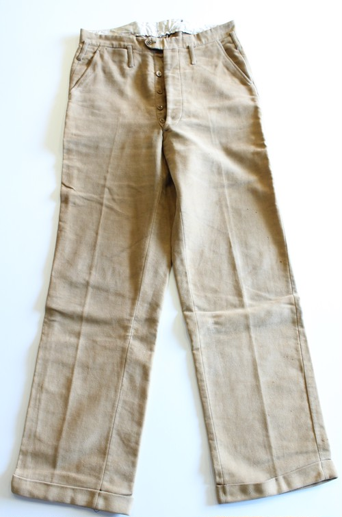 1930's Vintage Buckle Back Velvet Pants