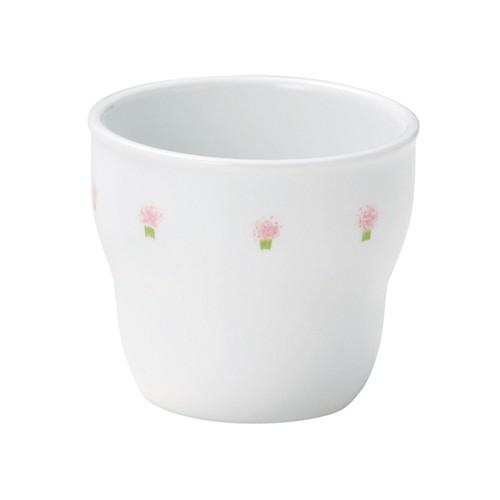 強化磁器 持ちやすい乳児用カップ(Φ7cm×H6cm/満水150ml) 花の冠ピンク 【1986-1060】