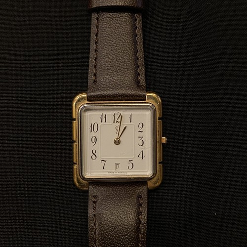"YSL ""Square Face"" Vintage Watch"