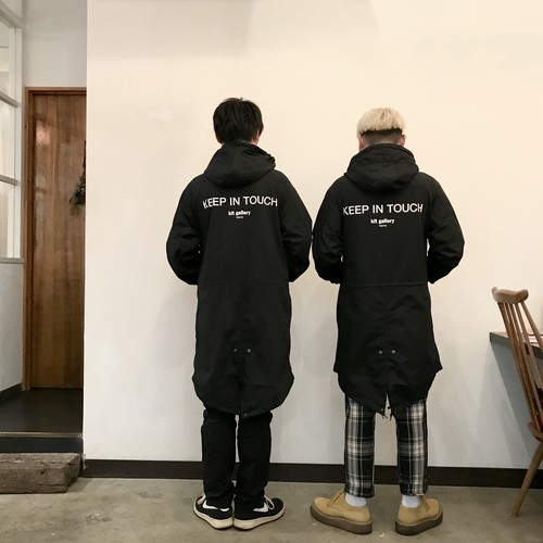"""""""KEEP IN TOUCH MODS COAT"""" tea. by kit gallery"""