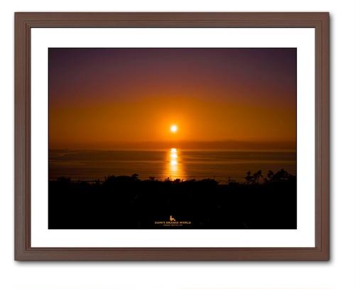 SUNSET ON THE IWAI COAST(岩井海岸の夕陽)横バージョン
