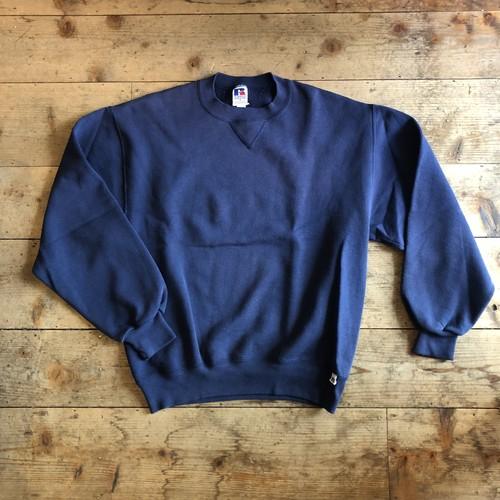 USED 90s Russel Athletic ラッセル 無地 スウェット ネイビー 紺色 USA製