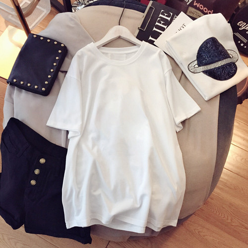 人気 オシャレ カジュアル ラウンドネック 半袖 合わせやすい Tシャツ・トップス