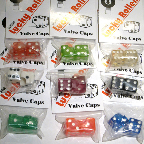 'Lucky Rollers' valve caps - nos