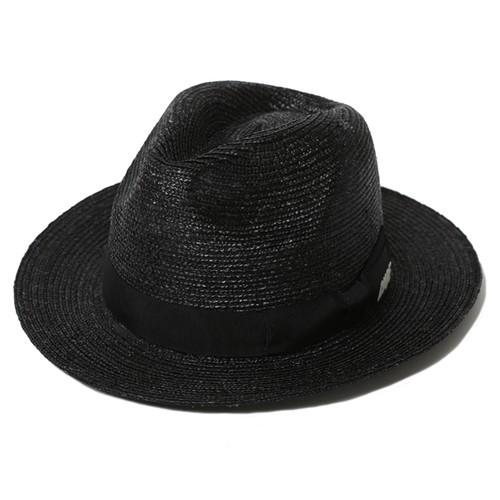 STRAW HAT- CHOPPED (BLACK) / RUDE GALLERY