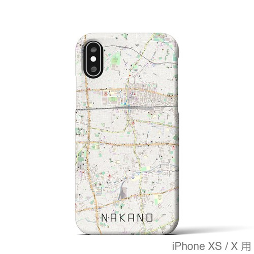 【中野】地図柄iPhoneケース(バックカバータイプ・ナチュラル)