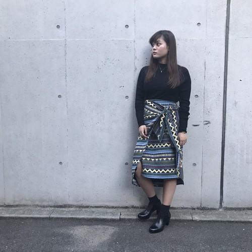 dignite collier/柄ラップスカート