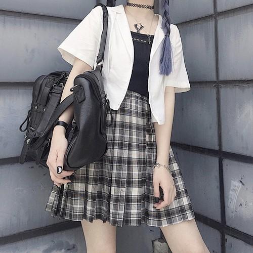 ゴスロリ系 スカート ミニ CRAZYGIRL オリジナル チェック柄 プリーツ レトロ 病み可愛い ロリィタ オルチャン 10代 20 代