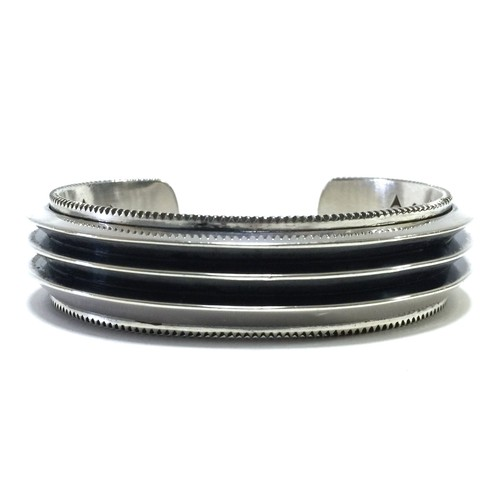 Navajo Vintage Sterling Silver Opera House Bangle by Cody Sanderson