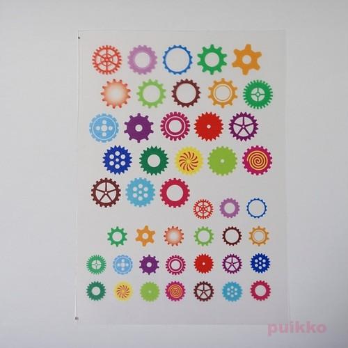 カラフル歯車・ギア レジン封入用フィルム