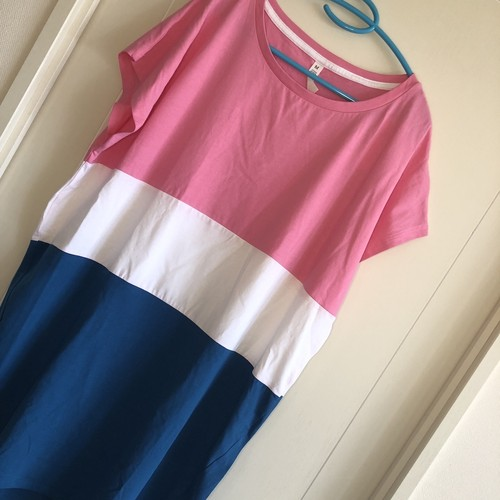Color block Tee-dress / Tシャツワンピース(ルームウェア)