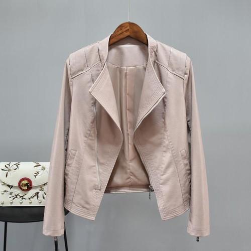 ライダースジャケット レディース レザージャケット アウター 大きいサイズ フェイクレザー ジャケット 長袖 無地 春夏 全3色 P2249