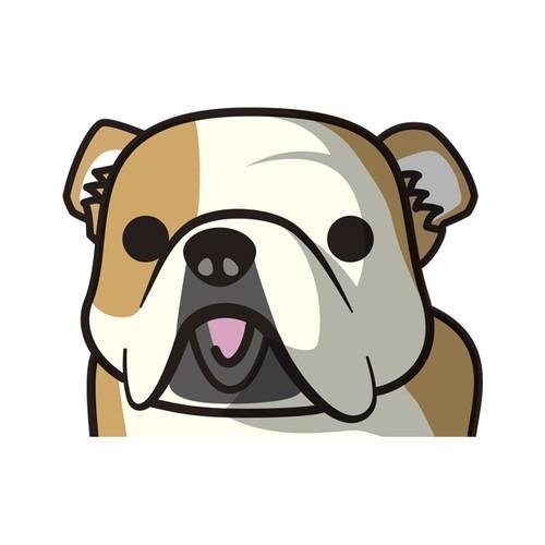 ブルドッグ(大) 犬ステッカー