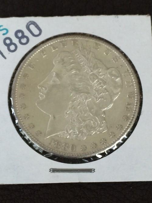 1880年製 モルガンダラー銀貨 エクストラファイン