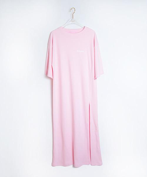 BabypinkTOKYO Long Dress Pink×White