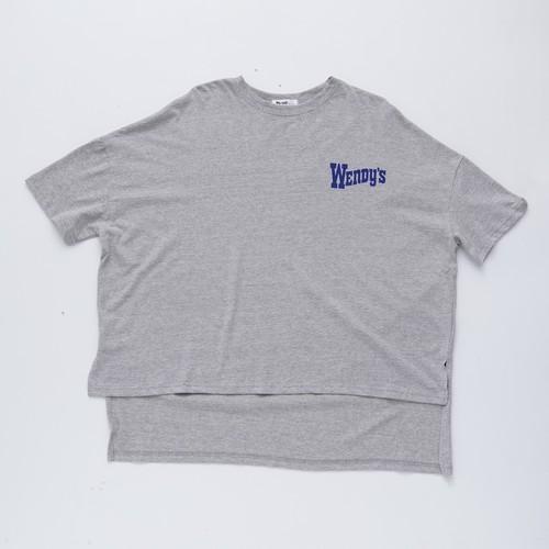 グレー ドロップショルダー Tシャツ (wendy's) 【古川優香 select】