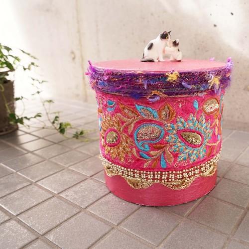 hug2フードボックスfood box(cats)/pink