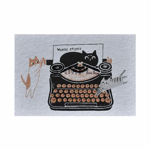 台湾  手摺りポストカード タイプライター