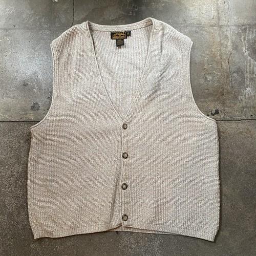 90s Eddie Bauer Cotton Knit Vest / USA
