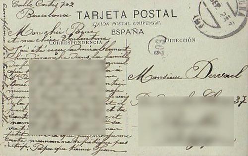 古絵葉書エンタイア「バルセロナ」(1900年代初頭)
