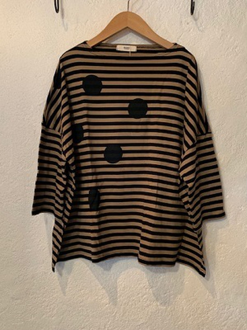 NARU/ ボーダードット7分袖Tシャツ 33