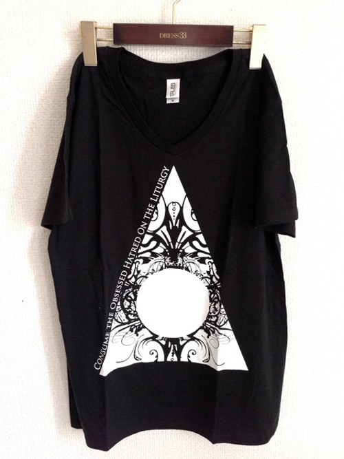 T-shirts 「Void in Flame」Black (V-neck)