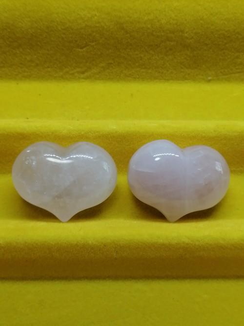 天然石 パワーストーン 可愛いハート形のラフストーン ローズクォーツ