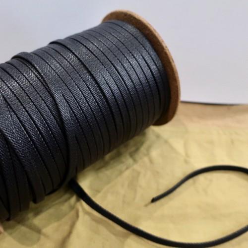 極上の艶 靴紐 (ブラック) 平紐 6mm