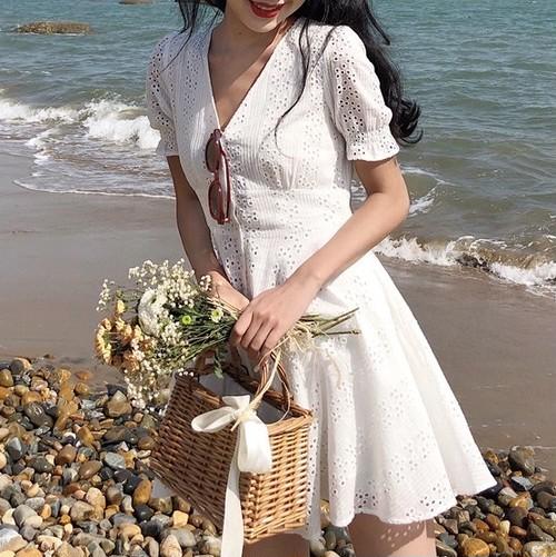 【お取り寄せ商品】retro white dress 6045