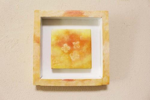 mini絵画four clovers skyシリーズ(オレンジ2)