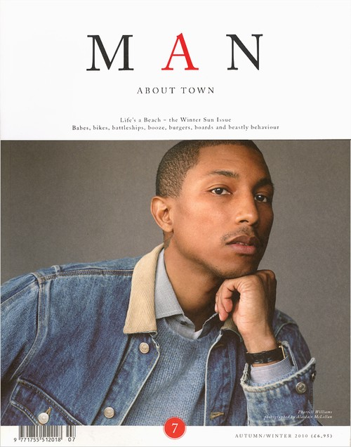 Man About Town Magazine A/W 2010 Pharrell Williams