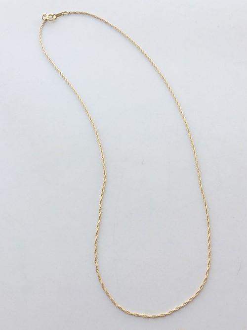 14金ゴールドフィルド製チェーンネックレス