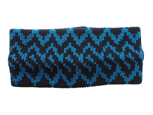 "COTTON HAIR BAND ""NORDIC"" BLACK×BLUE"