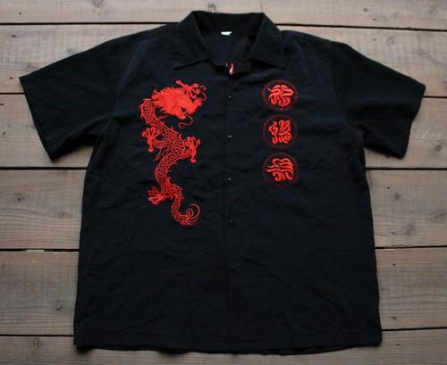 龍刺繍 半袖シャツ 【Fg1402】