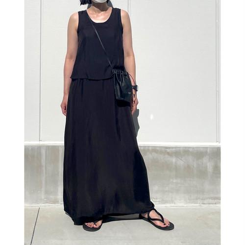 【hippiness】cupro layered onepiece(black) /【ヒッピネス】キュプラ レイヤード ワンピース(ブラック)