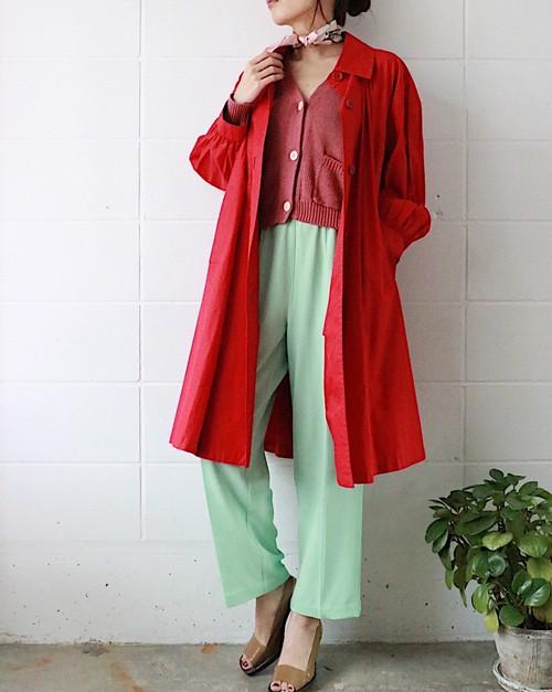 Yves Saint Lauren red spring coat