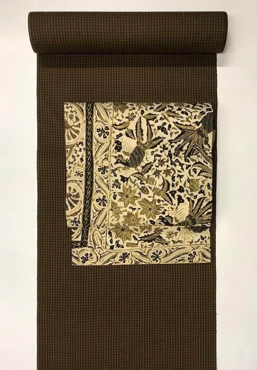 オリジナル名古屋帯(綿バティック×保多織)