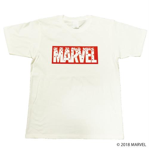 【マーベル】MARVELロゴ|レッドスター Tシャツ