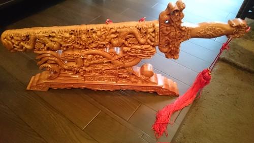 桃の木 木製 彫刻刀 台座 セット ケース付き