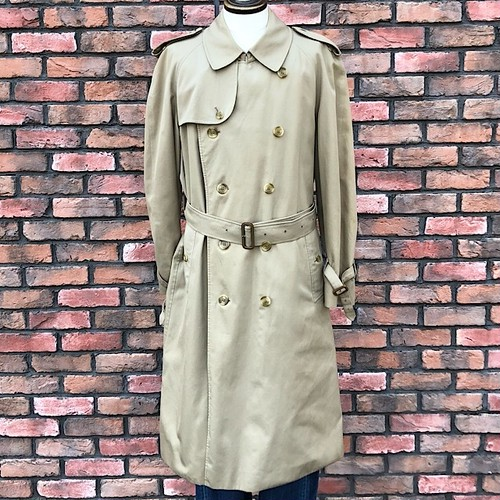1980s Burberrys London Trench Coat 52RG Made In England