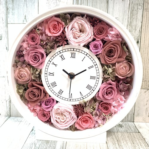 ◆受注制作◆ 花時計 ピンクC