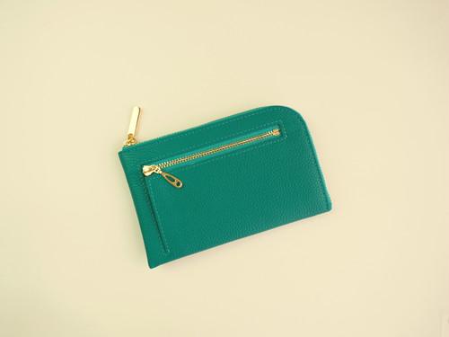 薄くて軽いコンパクトな財布 10枚カードポケット シュリンクターコイズ スクイーズ