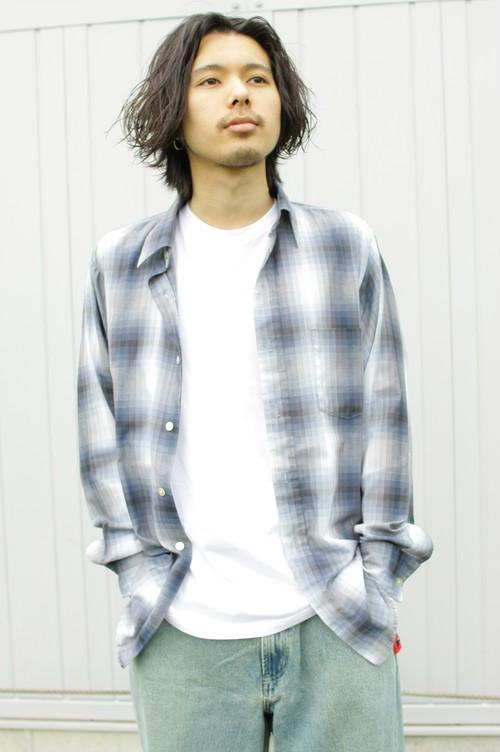 Digital Check L/S Shirt (Blue)